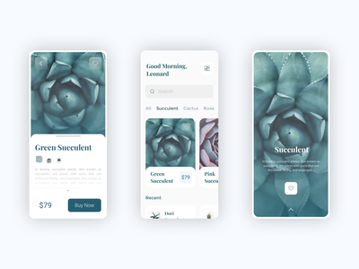Houseplants Application pandemic profiles shop ecommerce ios mobile design flower plant best trending trend landingpage profile design app branding explore simple elegant clean