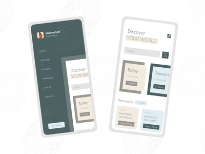 Activity Application mobile ui best2021 minimalism clientwork client task activity mobile ios mobile app design app profile ui branding adobexd explore simple elegant clean