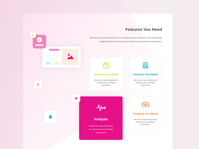 Template of Qwork homepage website best2021 analysis illustration uielements element features qwork trending home adobexd blog landingpage profile branding explore simple elegant clean