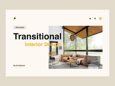Interior Design Website shop ecommerce minimalism collection homepage interior design website design interiordesign interior transitional trending branding blog landingpage profile adobexd explore simple elegant clean