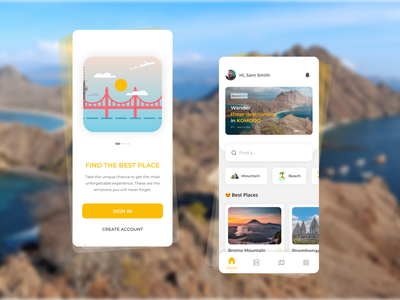 Travel Agency application ios tourism exploration travel agency vacation trend2021 best2021 home card profile mobile app landingpage figma branding adobexd explore simple elegant clean