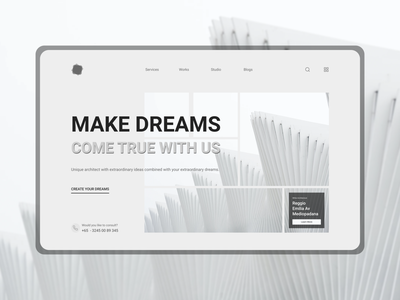 Trisoela - Studio Architect's website minimalist service home page creative monochrome architect architecture studio best2021 trend2021 trending landingpage card blog profile branding explore simple elegant clean