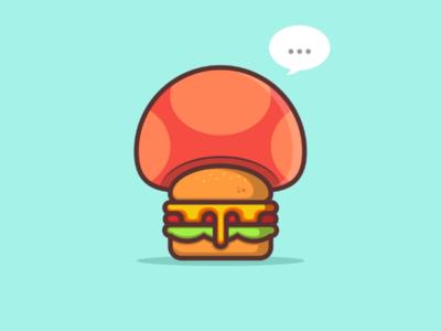 Mushroom Cheeseburger