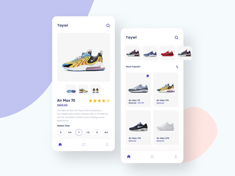 Taywi Shoes Shopping App ui appdeveloper redliodesigns contact checkout freebie free buy now webdesign website design web design website developer appdesign app shopping app colorfull colors cart shoes