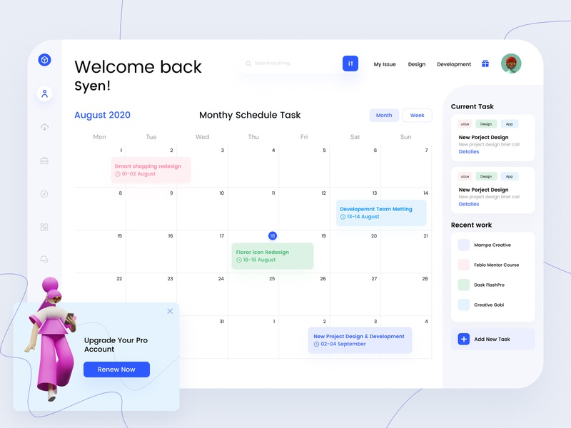 Task Management Dashboard Concept web design website contacts freebie free profile redliodesign white task management calendar ui calendar employee app employee company team dashboard design dashboard app dashboard ui dashboard task