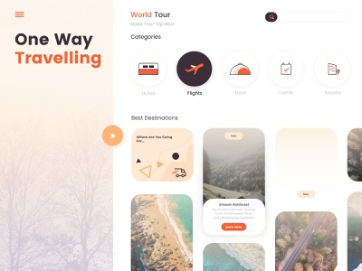 One Way Traveling Concept post share social redliodesings redlio support web website free download adbobe figma agency travels freebie free enjoy happy travel company tour
