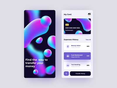 Mobile Pay App Design bank application payment application online transection app transection payment card history money transfer app transfer payment application interface app designer app development app design app ui app design illustration freebie free figma