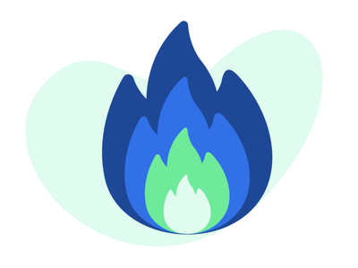 On fire for Easter campaign email design icon illustration marketing design design branding