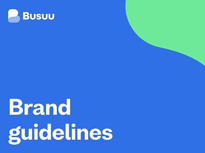 Busuu - Brand guidelines marketing design marketing design branding