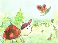 Friendships - Turtle and Butterfly