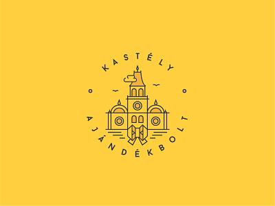 Weinckheim Castle Souvenir Shop – Logo design design vector yellow branding monolinear monoline monoline logo logo design logodesign logo