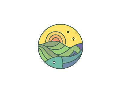 Logo design for a turistical blog orange green yellow design branding monoline logo monoline logo design logodesign logo