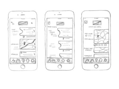 Festival App sketchs