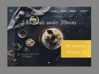 Simple food homepage website