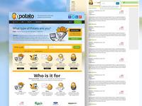 1 Potato Website design