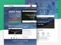 Zerif Pro wordpress theme landing page presentation