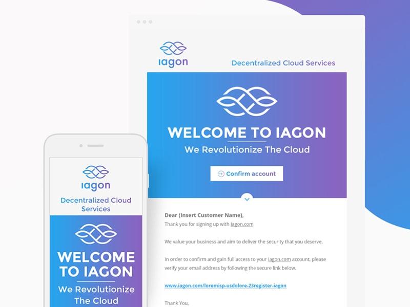 Iagon responsive email design desktop tablet mobile responsive email newsletter email-design