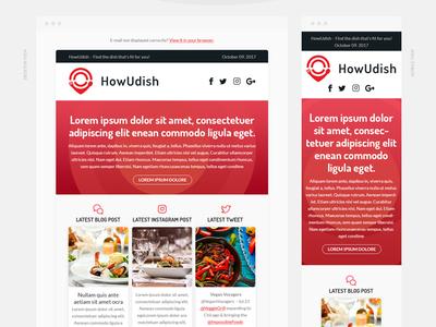 HowUDish responsive email design