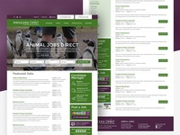 Animaljobsdirect recruitment website (job board)