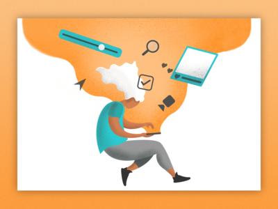 User Testing Illustrations