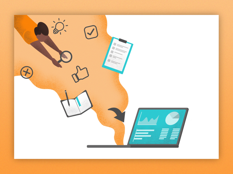 User Testing Illustration interface usertesting ebook illustration design