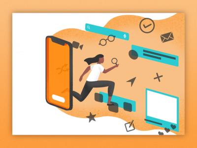 User Testing Illustration