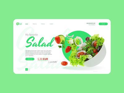 UI/UX Design: Greek Salad green ui ux design ui design webdesign salad greek website minimal ux web ui design