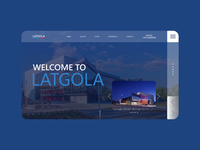 UI/UX Design: Welcome to Latgola web design alexltg latgola creative design creative blue and white blue typography website branding minimal ui ux design webdesign web ux ui design