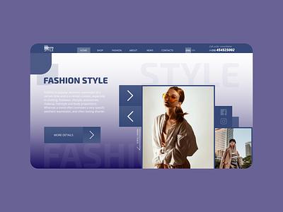 Web design: Fashion style fashion design creative fashion brand alexltg fashion logo typography branding ui design webdesign