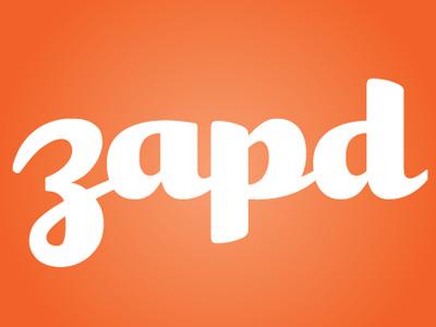 Zapd Dribble typography lettering type logo