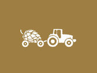 Monday1040 beer icon logo tractor hops