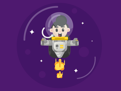 Cute space character
