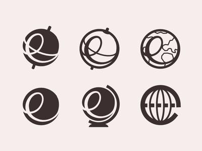 'E' + Globe Brandmark