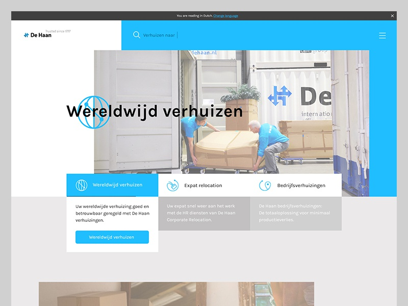 Relocation/Moving Company Design dutch expat worldwide moving relocation