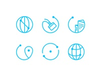 Relocation/Moving Company Icon Set