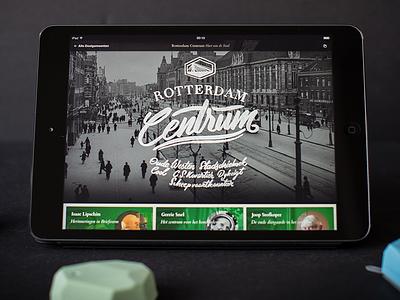 RRRoots City History App app ipad history rotterdam