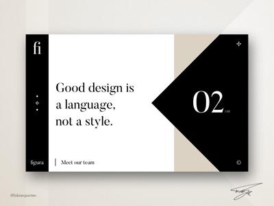Creative Website Design   Figura (UI Design in Sketch #04)