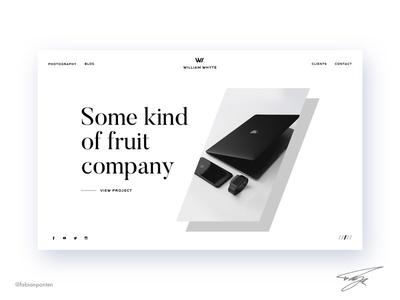 Portfolio Website Design   William Whyte (UI Design Sketch #05)