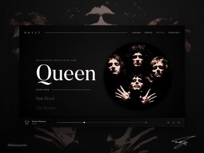 Music Website Design   GR8ST (UI Design in Sketch #06)