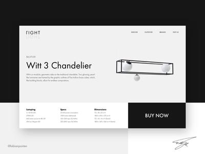 Lamp Store Web Design   Right Light (UI Design in Sketch #09)