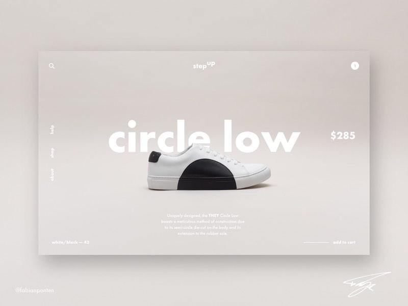 Shoe Store Website Design | StepUp (UI Design in Sketch #12) ui design sketch sketch design sketch ui design stepup step up shoe shop design shoes website design shoe store website design