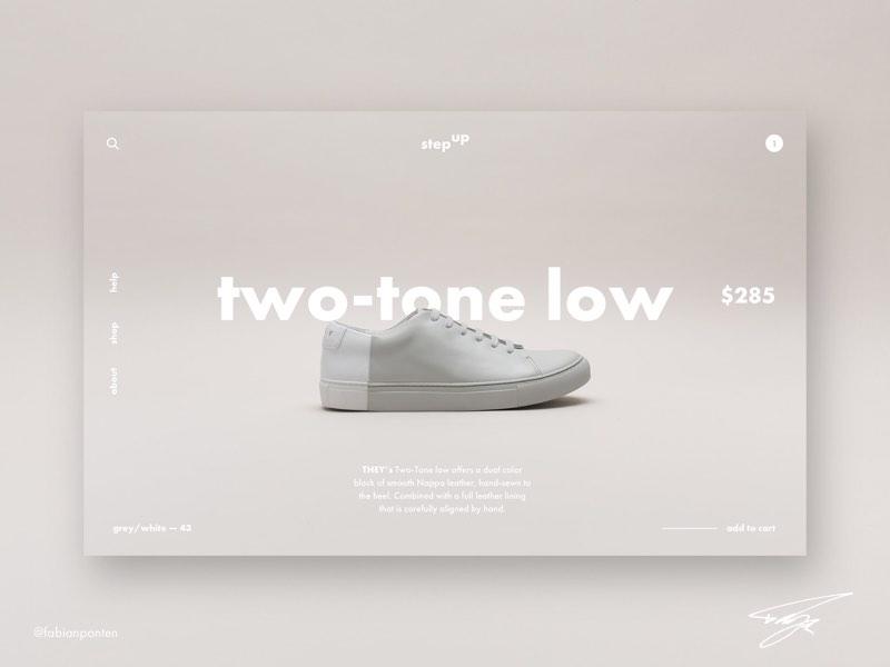 Shoe Store Website Design | StepUp (UI Design in Sketch #12) shoe store website design website design shoes design shoe shop step up stepup ui design sketch sketch design ui design sketch