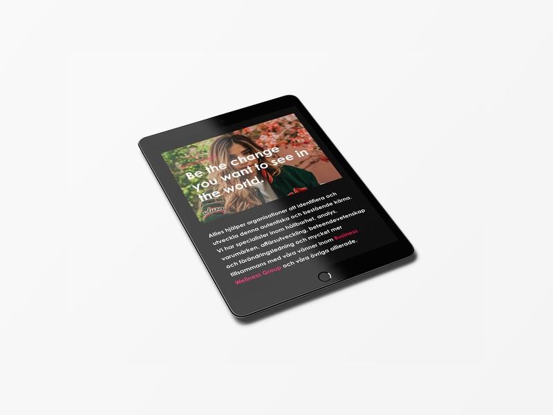 Allies - Website Design - iPad Tablet web design tablet ipad webdesign website design