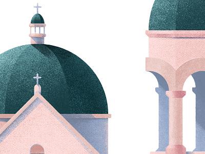 Basilica christianity building structure church graphic design illustration christian catholic