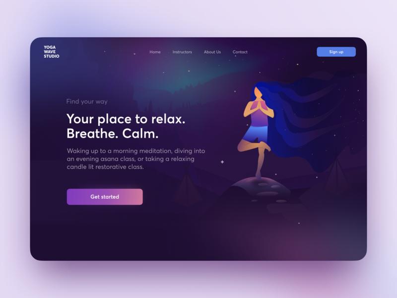 Yoga Studio workout colors ux interface yoga homepage product design heroimage web design ui yoga studio