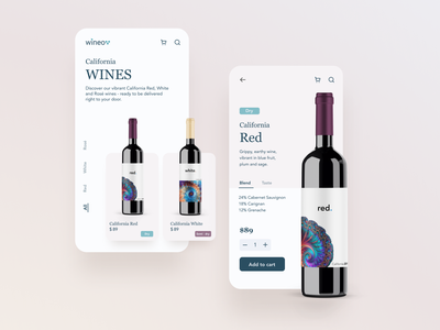 California Wines app design uidesign wine label wine design branding mobile app design ui