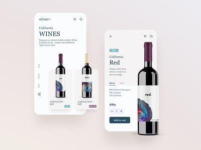 California Wines app design uidesign wine label wine design branding mobile app design ui