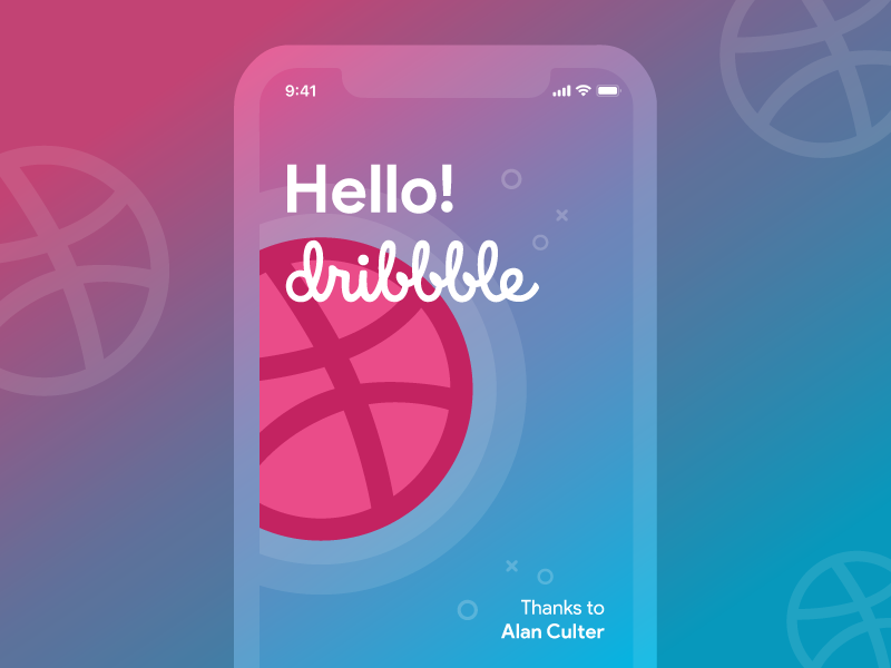 Hello dribbble! design ui ux mobile thanks debuts shot first