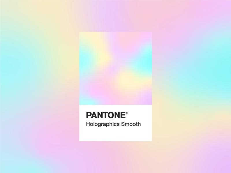PANTONE® Holographic Smooth adobe illustrator graphic smooth illustration design pantone gradient holographic