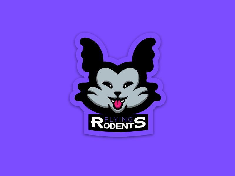 FLYING RODENTS - Logo vector adobe illustrator illustration branding design rodents esport logo